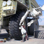 Raben Tire Services on site Large equipment