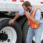 Flat on the road. Raben Tire offers 24 hour road side to commercial vehicles