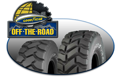 Goodyear OTR Tires Image Collage